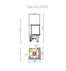 Monobloque de Leña Edilkamin Side Plus 50x50