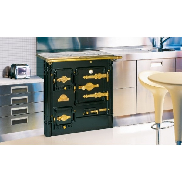 Cocina calefactora de le a hergom l 07 cc for Cocina a lena de fundicion