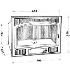 Insertable de Leña Hergom C-4/70