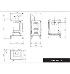 Estufa de Leña Nordica Giulietta X