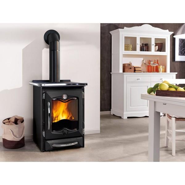 Cocina calefactora de le a nordica d s a for Cocinas calefactoras de lena precios