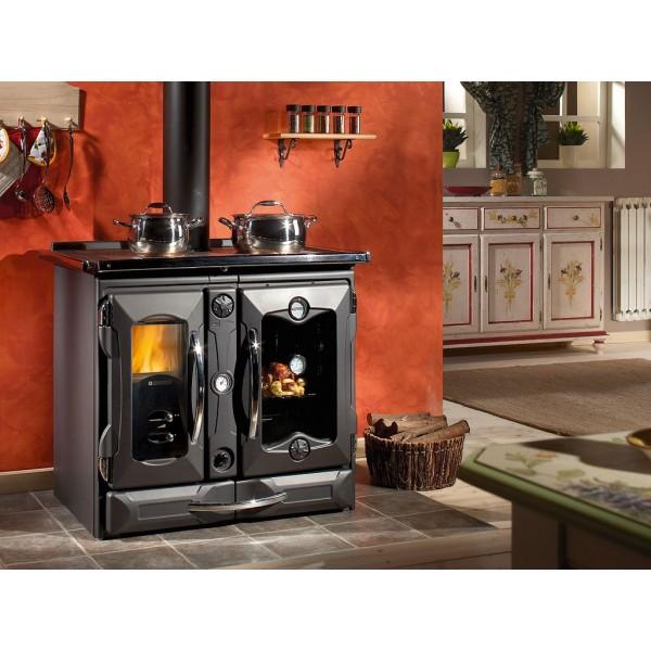 Cocina calefactora de le a nordica termosuprema compact d s a for Cocinas calefactoras de lena precios