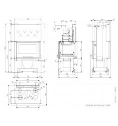Hogar de Leña Nordica Focolare 80 Bifacciale Hybrid