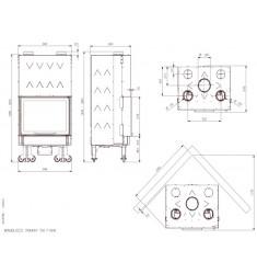 Monobloque de Leña Nordica Monoblocco 750 Ironker