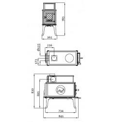 Estufa de Leña Jotul F 118 CB