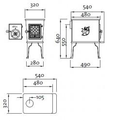 Estufa de Leña Jotul F 602 CB