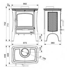 Estufa de Leña Hergom E-20 NS