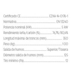 Estufa de Leña Hergom E-30 XS