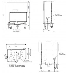 Monobloque de Leña Edilkamin Windo2 95