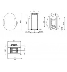 Estufa de Leña Scan 66