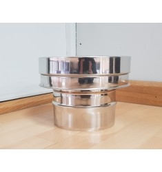 Poujolat-Adaptador de Simple a Doble Pared Inox