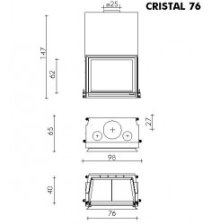 Monobloque de Leña Edilkamin Cristal 76