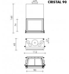 Monobloque de Leña Edilkamin Cristal 90