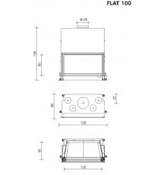 Monobloque de Leña Edilkamin Flat 100