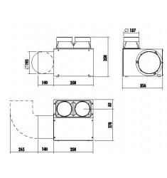 Monobloque de Leña Edilkamin Flat 120